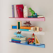 Cool Shelving Designs Ideas Small Colorful Acrylic Wall Shelving For Kids How