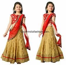 little in red half saree kids in indian wear pinterest