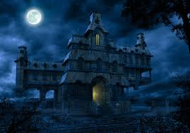 scary halloween screen savers haunted house wallpaper wallpapers browse