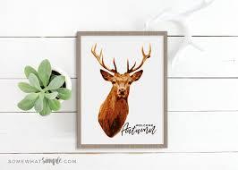 deer prints free printable deer decor somewhat simple
