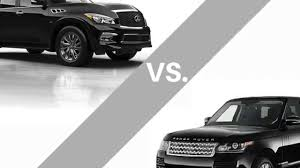 infiniti qx56 vs mercedes gl450 2015 infiniti qx80 vs 2015 range rover youtube