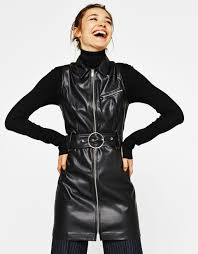 leather dress faux leather dress with belt new bershka cyprus