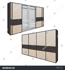 Sliding Doors For Bedroom Sliding Door Wardrobe Bedroom Dressing Room Stock Vector 708634639