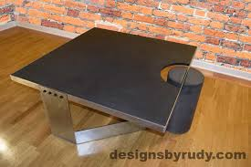 how to clean concrete table top charcoal concrete coffee table polished steel frame clean cut dr30