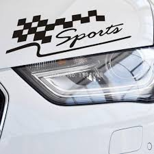 Automotive Flags 10 X Chequered Flag Sports Classical Car Sticker Auto Decal