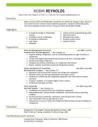 hvac resume template resume templates air conditioning sales exle best hvac and