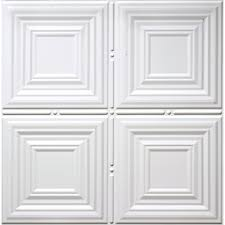 Faux Tin Ceiling Tiles Drop In by Shop Dimensions Matte White Faux Tin 15 16 In Drop Acoustic