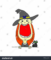 cartoon cute young halloween witch wide stock vector 147922388