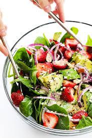 avocado strawberry spinach salad with poppyseed vinaigrette recipe