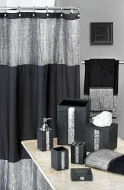 Gray Fabric Shower Curtain Curtain Creates A Glittering Atmosphere For Your Bathroom With