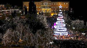 christmas tree lighting 2018 christmas tree lights up in athens greekreporter com