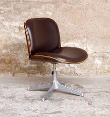 fauteuil de bureau en bois pivotant fauteuil de bureau vintage ico parisi mim pivotant gentlemen