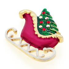 sleigh swarovski pin brooch fantasyard