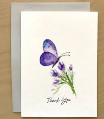 handmade watercolor cards butterfly thank you card original watercolor cards painted