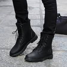 s boots autumn 2017 2017 autumn s leather shoes fashion black martin boots