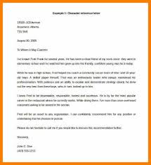 Sample Character Reference In Resume 7 Example Of A Referee Letter Science Resume