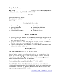 examples of teacher resumes teacher resume template for ms word
