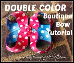 hairbow supplies color boutique hair bow tutorial hairbow supplies etc