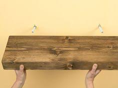 Reclaimed Wood Floating Shelves by Faux