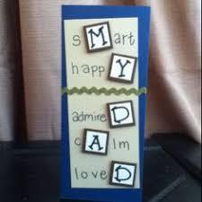 handmade dad happy birthday card with a miniature chocolate bar