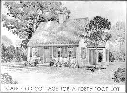 historic plans eleanor raymond cottage for a forty foot lot