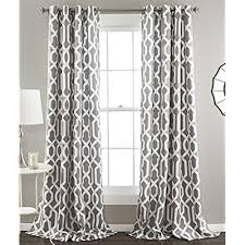 Curtains In A Grey Room Trellis Curtains