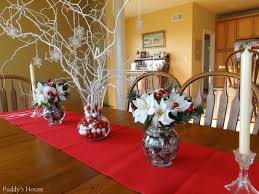 christmas u2013 diy centerpieces sprayed branches with snowflakes