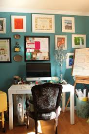 teal paint colors home office eclectic with vintage inspired