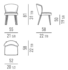 Armchair Measurements Aston Chair By Minotti