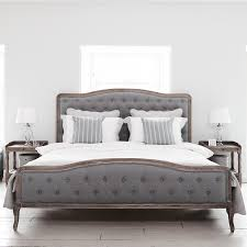 Linen Bed Frame Chantal King Size Bed With Grey Linen Bedroom Furniture