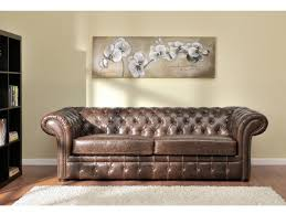 canapé cuire canapés et fauteuil chesterfield cuir 2 coloris clotaire