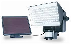 solar powered 80 led outdoor security floodlight black