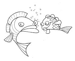 free coloring pages cartoon fish coloring pages
