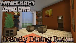 minecraft indoors interior design trendy dining room youtube
