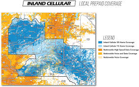 Internet Coverage Map Coverage Map Inland Cellular