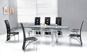 Designer Glass Dining Tables And Chairs Home Design And Gallery - Simple dining table designs