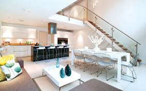 kitchen modern inside remarkable black sky blue colour interior exquisite residence in london with double volume room by lli kitchen living dining house space design