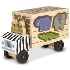 wooden car mamimamihome baby wooden car zoo freight car baby dragging toys