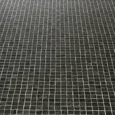 atlas 599 chagall black mosaic tile effect vinyl flooring