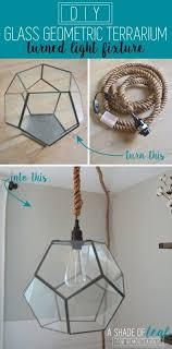 Make Your Own Pendant Light Kit Diy Geo Terrarium Light Glass Terrarium Terraria And Pendant