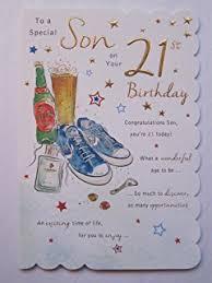 happy 21st birthday son birthday card happy 21st birthday son