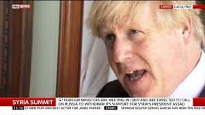 Russia Assad Deliver Blow To by Boris Johnson Warns Of New Sanctions As He Accuses Vladimir Putin