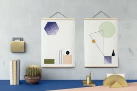How To Hang Poster Without Frame Wooden Large Photo Frame Smoked Oak By Ferm Living