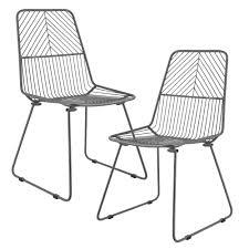 Esszimmer Set Angebote En Casa 2x Design Stühle Metall Stuhl Set Lehnstuhl Metallstuhl