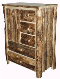 Armoire Chest Of Drawers Amish Log Furniture Rustic Aspen Armoire