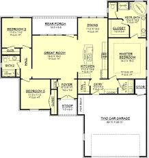 european style house plan 3 beds 2 baths 1575 sq ft plan 430 65