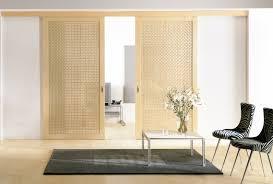 Sliding Doors Brown Sliding Doors With Rattan Panels 5641 Home Decorating