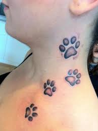 wolf paw print tattoos 3d meaning design idea