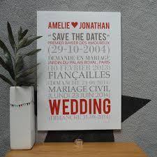 cadeau de mariage personnalis affiche personnalisée save the date mariage avec texte