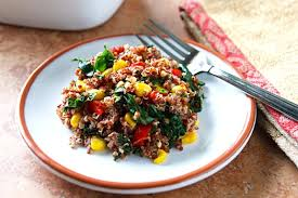 quinoa pilaf with kale and corn